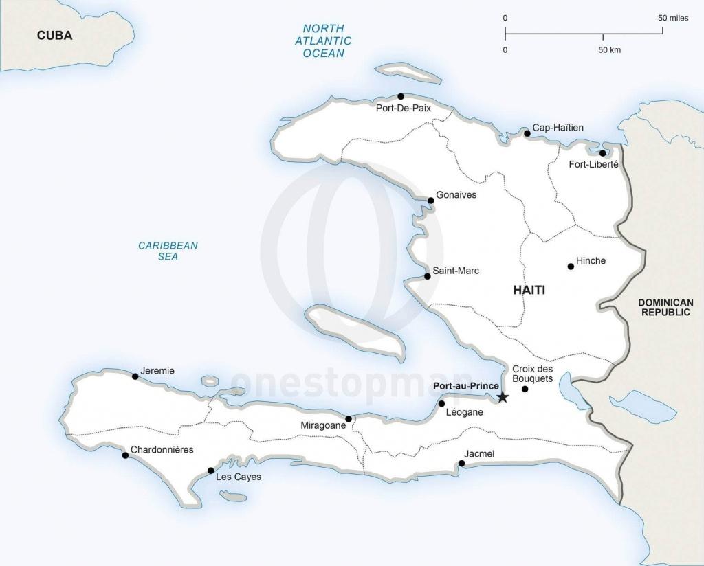 Vector Map Of Haiti Political   One Stop Map - Printable Map Of Haiti