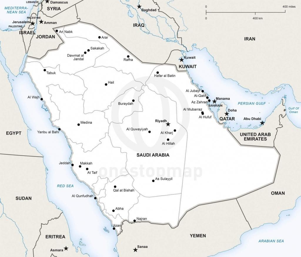 Vector Map Of Saudi Arabia Political | One Stop Map - Printable Map Of Saudi Arabia