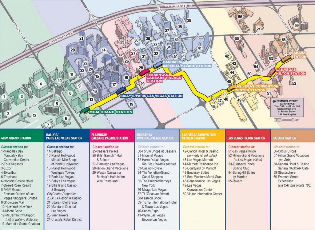 Vegas Monorail Map 2012    Vegas Convention Center Station Las - Printable Map Of Las Vegas Strip