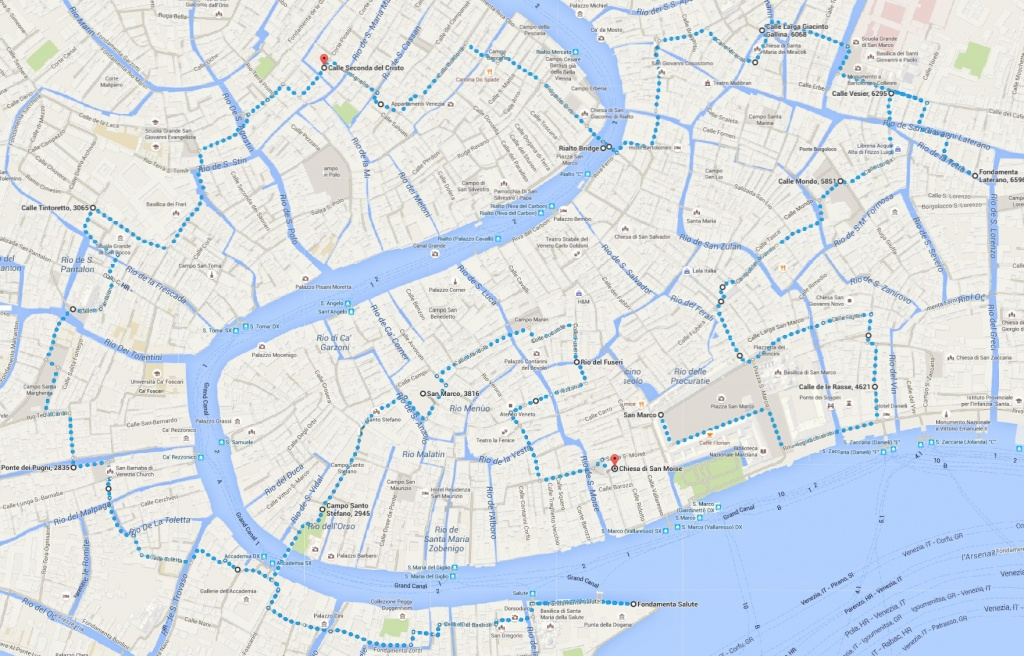Venice Attractions Map Pdf - Free Printable Tourist Map Venice - Printable Walking Map Of Venice Italy