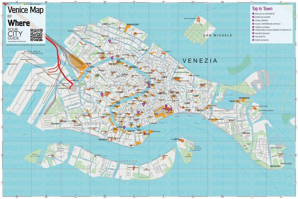 Venice City Map - Free Download In Printable Version | Where Venice - Printable Tourist Map Of Venice Italy