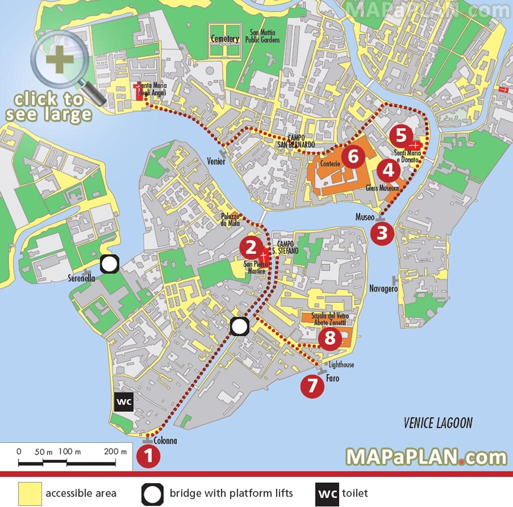 Venice Maps - Top Tourist Attractions - Free, Printable City Street Map - Printable Walking Map Of Venice Italy