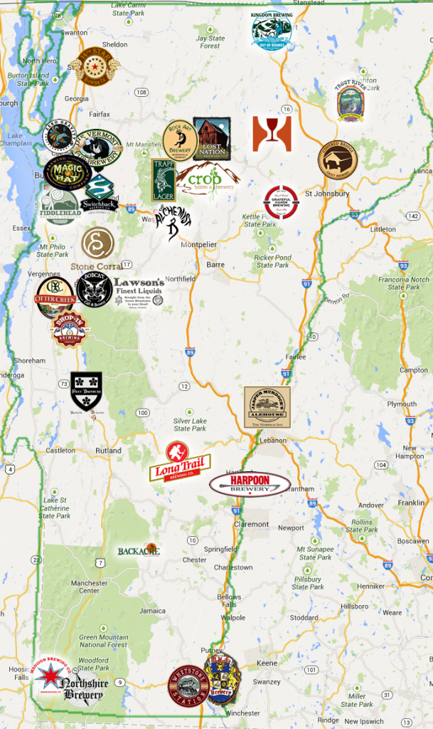 Vermont Brewery Trail. Please Check Their Site For The Most Current - Printable Map Of New England