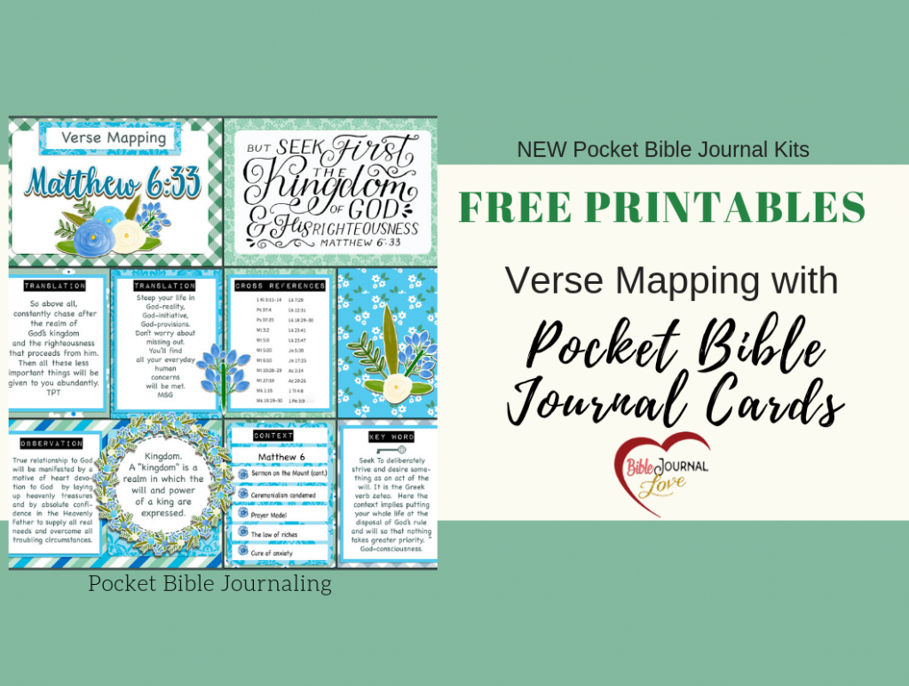 Verse Mapping With Pocket Bible Journal Cards – Bible Journal Love - Verse Mapping Printable