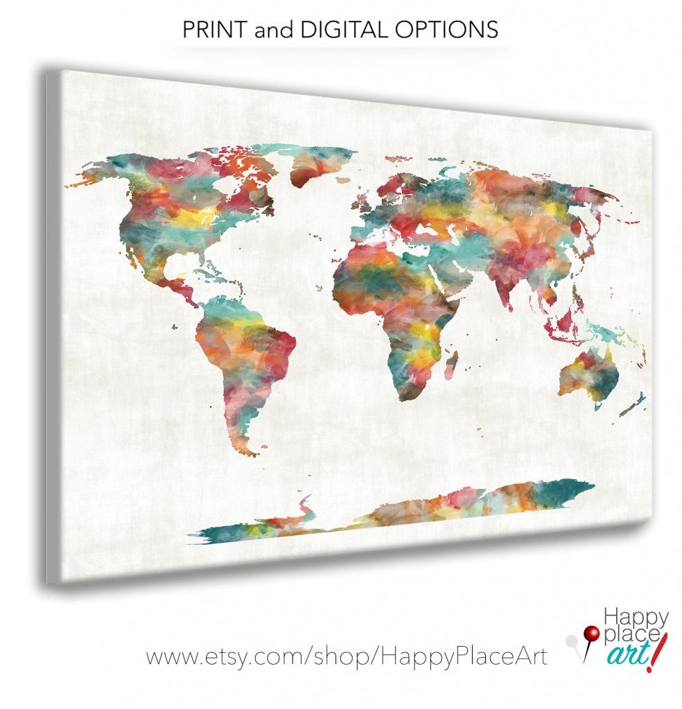 Very Large Custom World Map Print Or Printable World Map Art   Etsy - Large Printable World Map