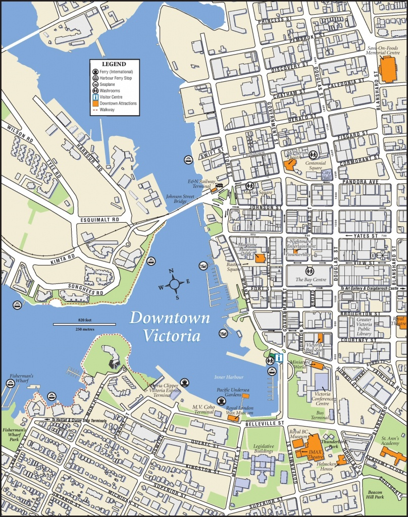 Victoria Downtown Map - Printable Map Of Victoria