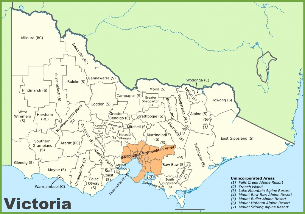 Victoria State Maps   Australia   Maps Of Victoria (Vic) - Printable Map Of Victoria