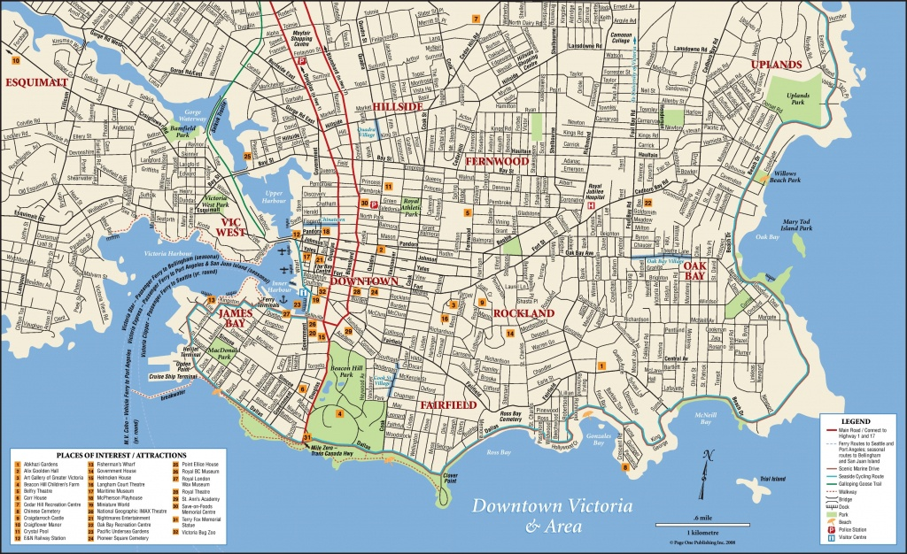Victoria Tourist Attractions Map - Printable Map Of Victoria