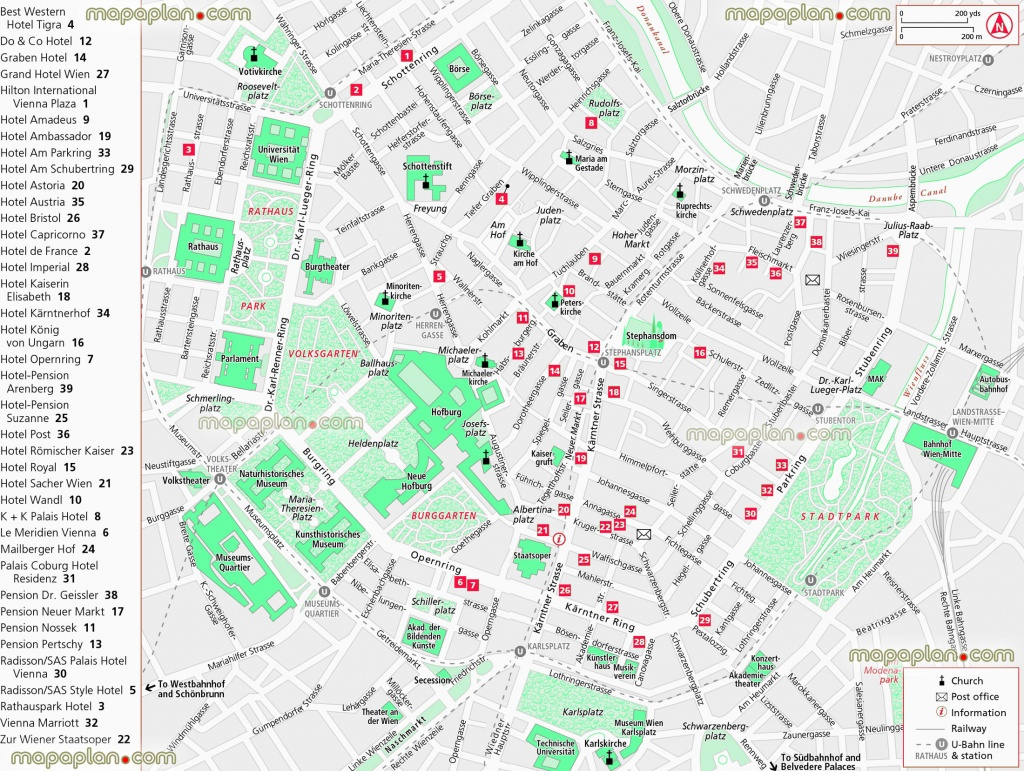 Vienna Maps - Top Tourist Attractions - Free, Printable City Street - Vienna City Map Printable