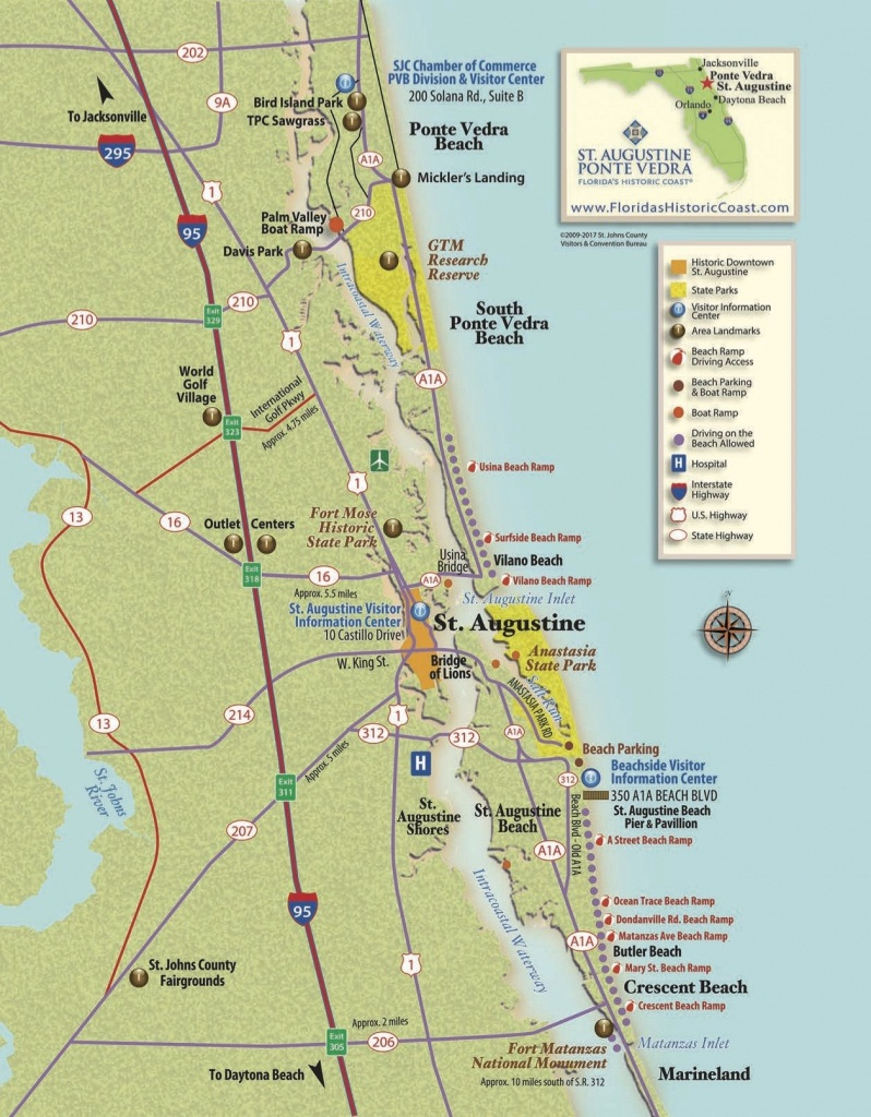 View St. Augustine Maps To Familiarize Yourself With St. Augustine - St Augustine Florida Map Of Attractions