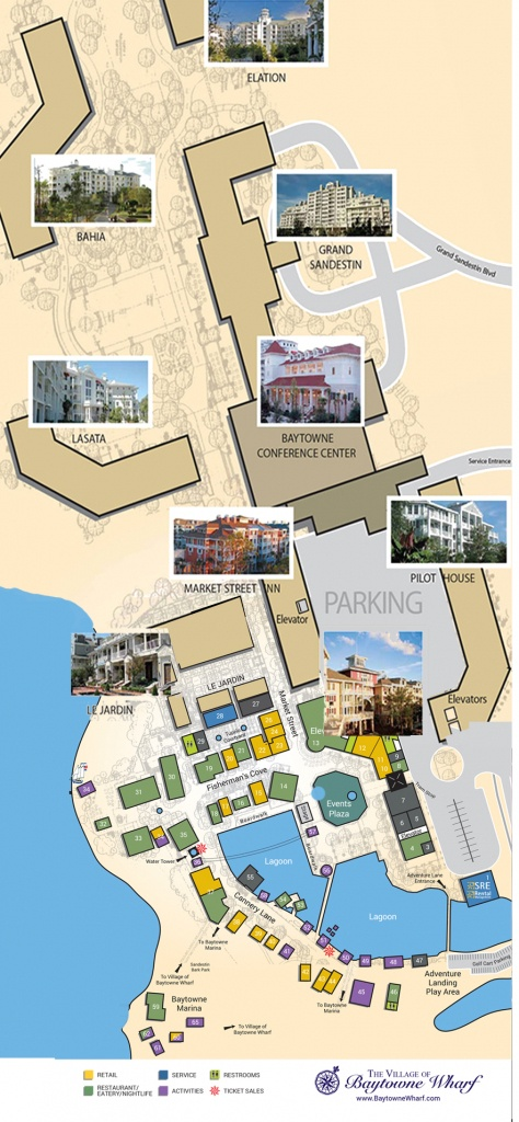 Village Map | The Village Of Baytowne Wharf | Located In Sandestin - The Villages Florida Map