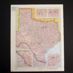 Vintage 1960 Texas Map / Map Wall Art / Office Decor / Texas   Etsy   Old Texas Map Wall Art