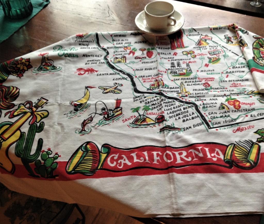 Vintage California Tablecloth California Map Tablecloth   Etsy - Vintage California Map Tablecloth
