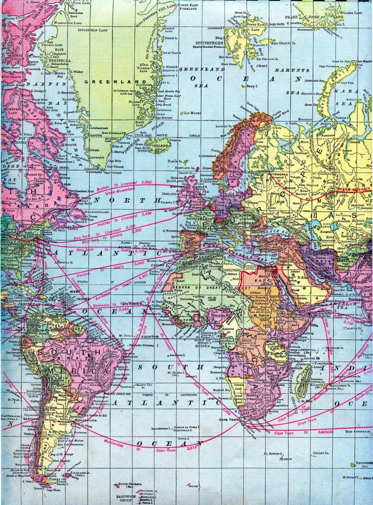 Vintage Clip Art - World Maps - Printable Download - The Graphics Fairy - Printable Map Paper
