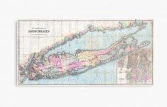 """Vintage Map Of Long Island (1880) """" Metal Printbravuramedia   Printable Map Of Long Island"""