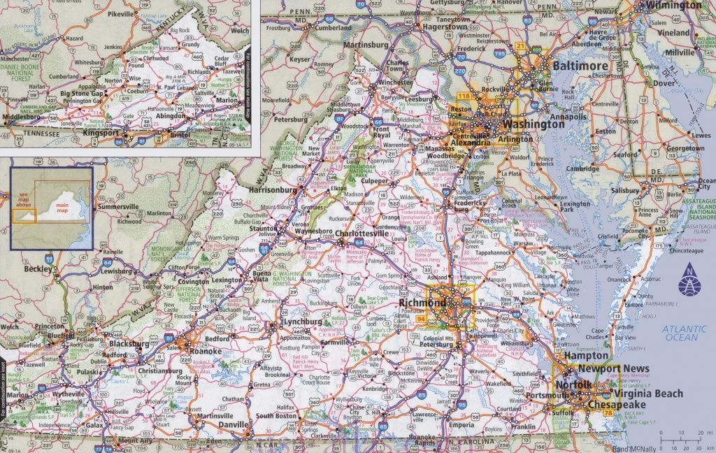 Virginia Road Map - Virginia State Map Printable