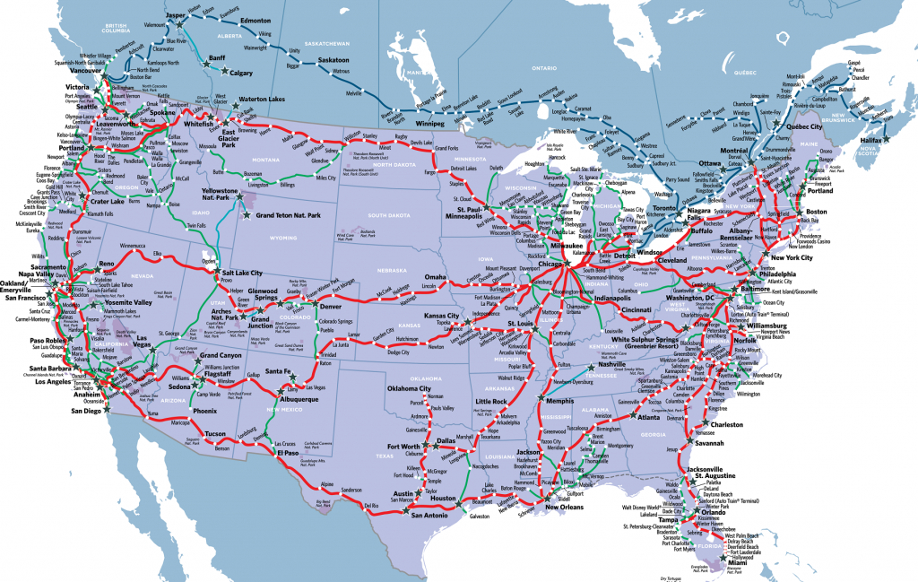 Visit America's Most Stunning National Parkstrain In 2019 - Amtrak Train Map California