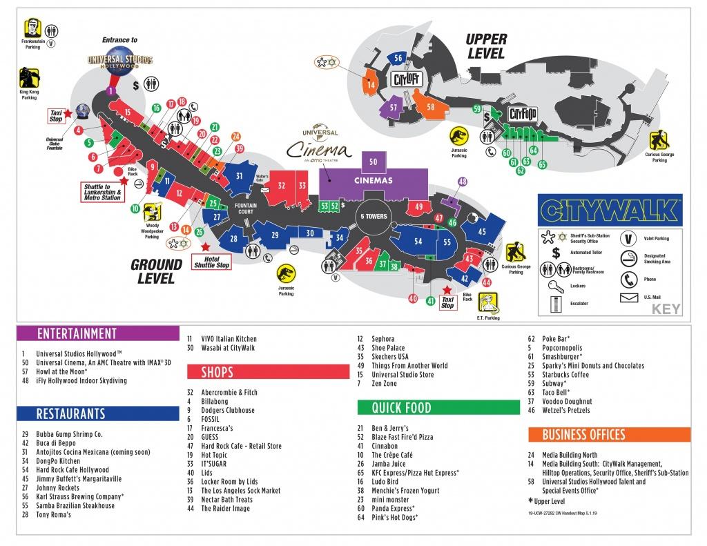 Visitor Map | Citywalk Hollywood - Universal Citywalk California Map