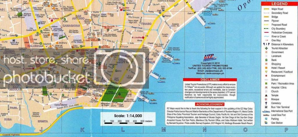 Walking Tour Of Downtown Cebu City - Cebu City Map Printable