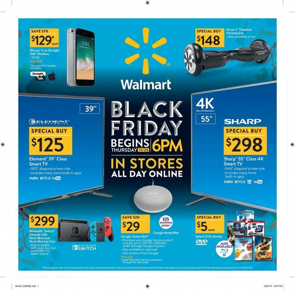 Walmart Black Friday 2017 Ad Scan Deals And Sales #coupons The 32 - Printable Walmart Black Friday Map