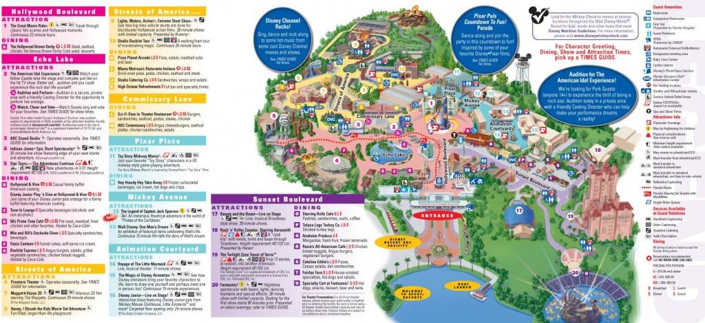 Walt Disney World Map 2014 Printable | Walt Disney World Park And - Maps Of Disney World Printable