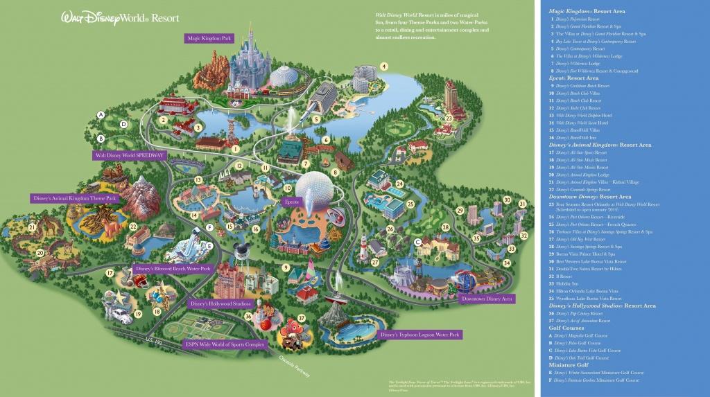 Walt Disney World Maps - Parks And Resorts In 2019 | Travel - Theme - Disney Hotels Florida Map