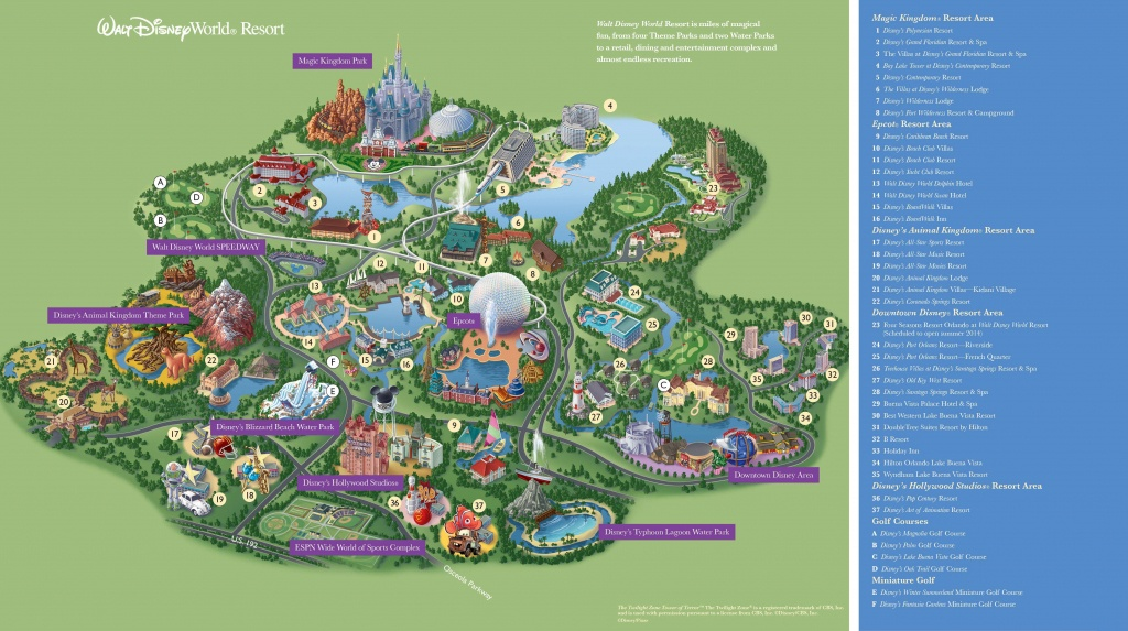 Walt Disney World Maps - Parks And Resorts In 2019   Travel - Theme - Disney World Florida Map