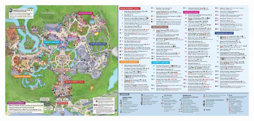 Walt Disney World Park Guide Maps - Blog Mickey - Disney World Florida Map 2018