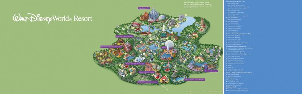Walt Disney World® Resort Map- Wyndham Lake Buena Vista - Hotel Near - Disney Florida Map