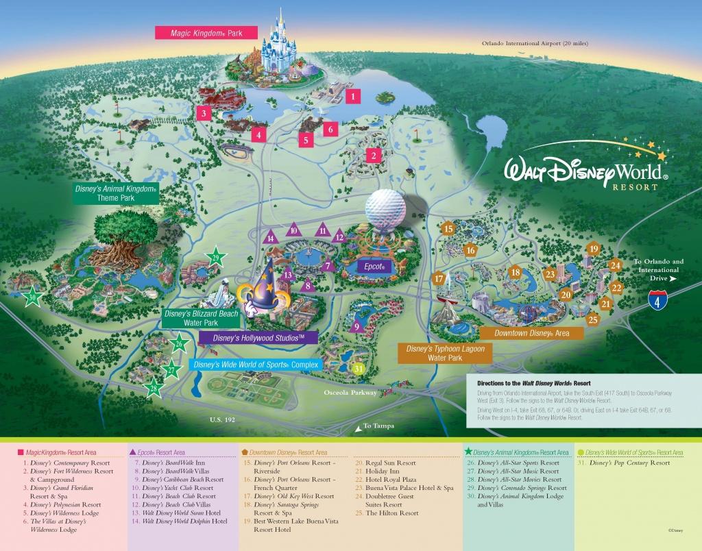 Walt Disney World - Resorts - Resort Map   Wdw -- Disney Resorts In - Map Of Disney Florida Hotels