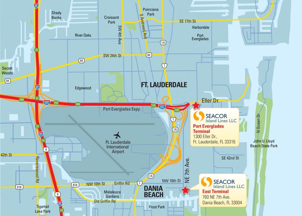 Warehouse Services At Port Everglades, Fort Lauderdale - Port Everglades Florida Map