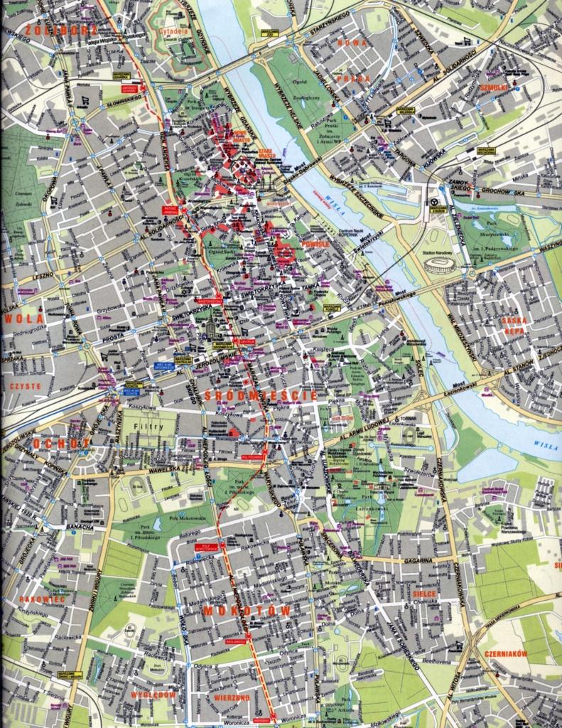 Warsaw Map | Rtlbreakfastclub - Warsaw Tourist Map Printable