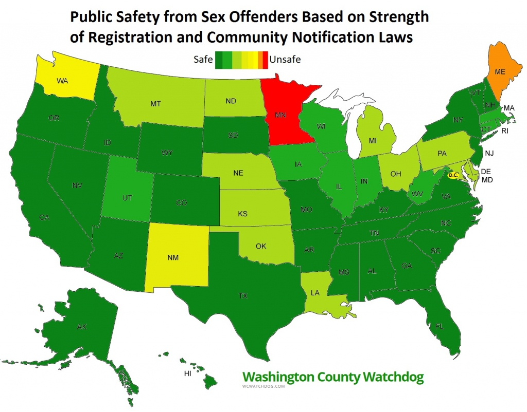 Washington County Watchdog: Watchdog Review Of Each Of The Fifty - Sexual Predator Map California