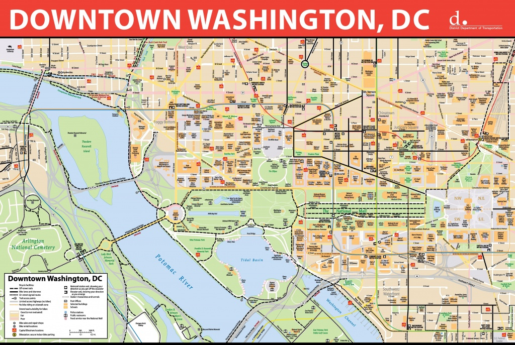 Washington, D.c. Downtown Bike Map - Printable Map Of Dc