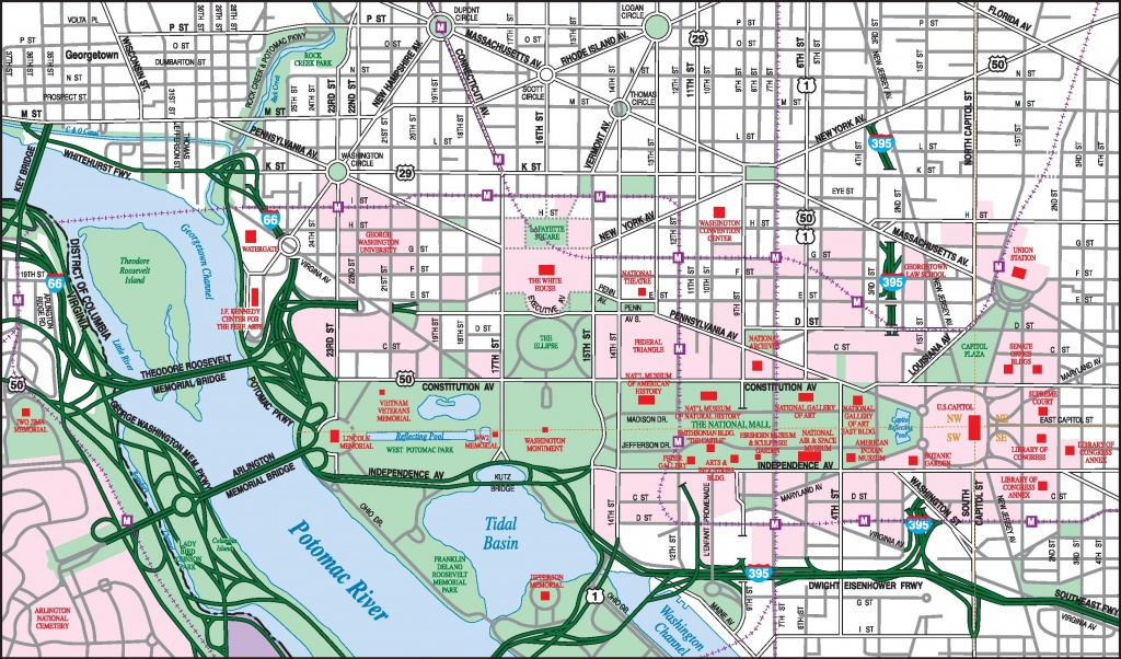 Washington, D.c. Downtown Map - Printable Map Of Downtown Dc