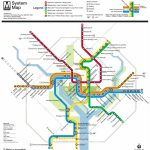 Washington, D.c. Subway Map | Rand   Printable Metro Map Of Washington Dc