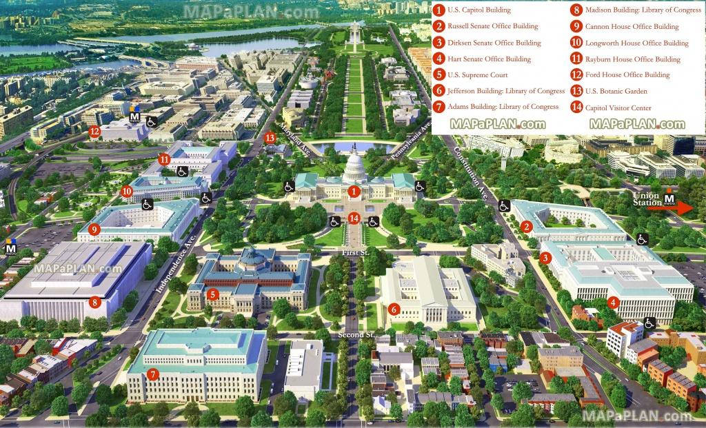 Washington Dc Maps - Top Tourist Attractions - Free, Printable City - Free Printable Aerial Maps