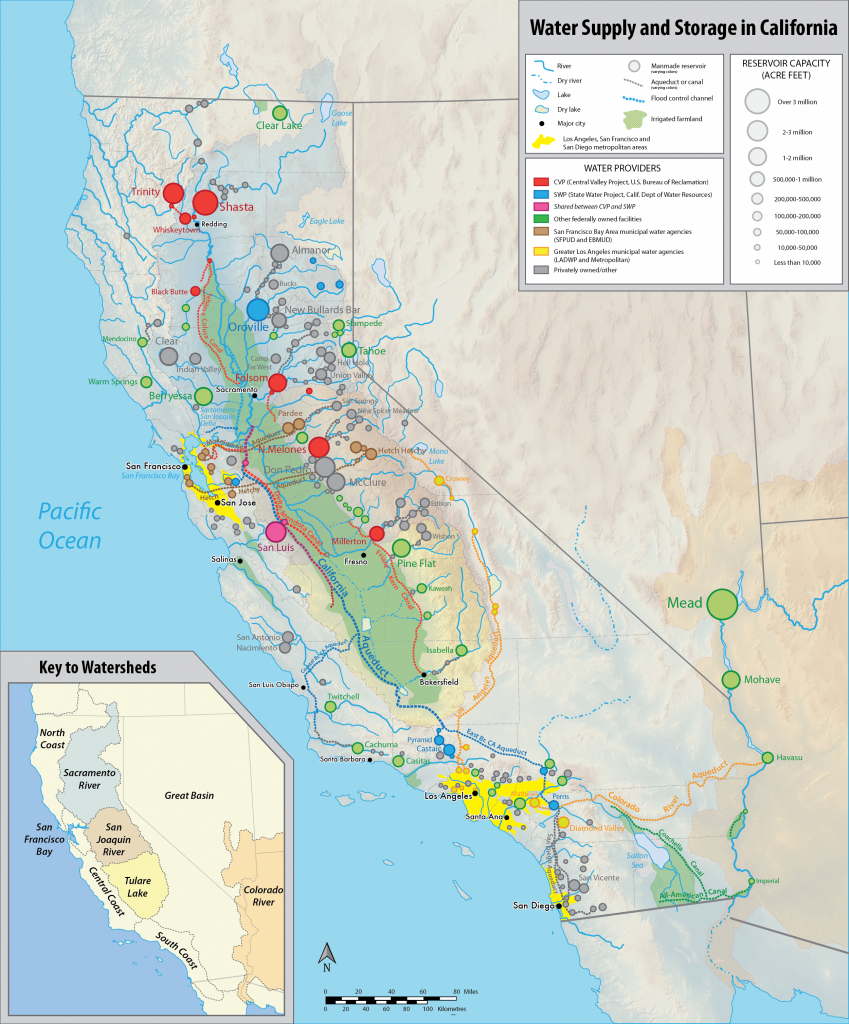 Water In California - Wikipedia - California Water Rights Map