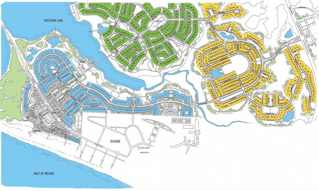 Watercolor Map Florida | Beach Group Properties - Seaside Florida Town Map