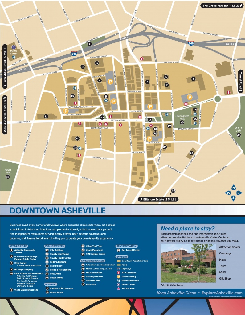 Wayfinding Downtown Map_Thumbnail | Asheville, Nc | Downtown - Printable Map Of Downtown Asheville Nc