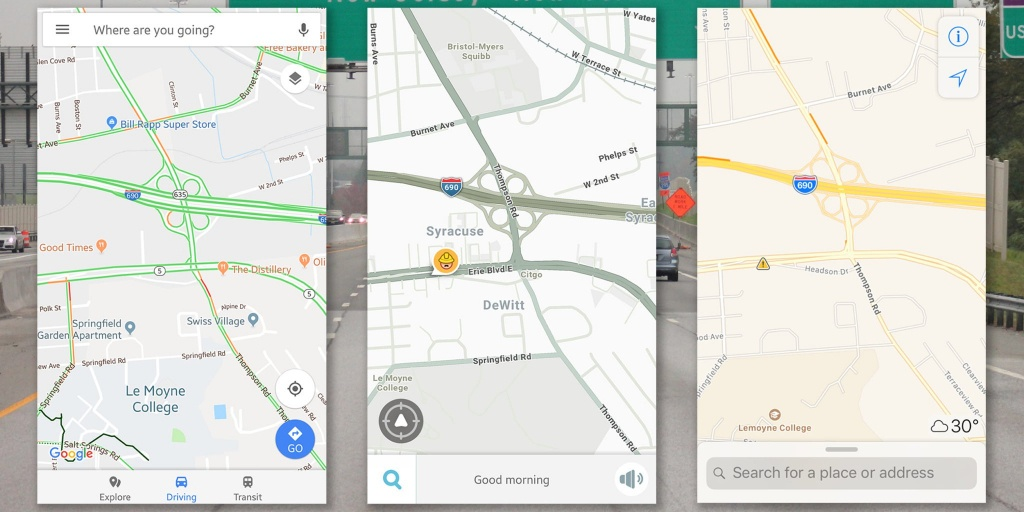 Waze Vs Google Maps Vs Apple Maps: The Best Navigation App - Sat Nav With Florida Maps