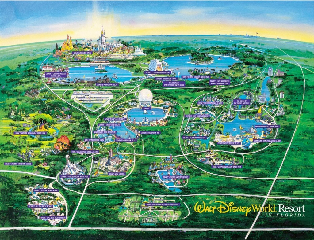 Wdw Wall Map And Walt Disney World Besttabletfor Me Within Resorts - Disney Resorts Florida Map