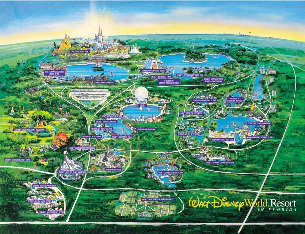 Wdw Wall Map And Walt Disney World Besttabletfor Me Within Resorts - Disney World Florida Hotel Map