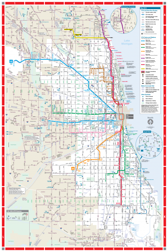 Web-Based System Map - Cta - Printable Map Of Downtown Chicago Streets