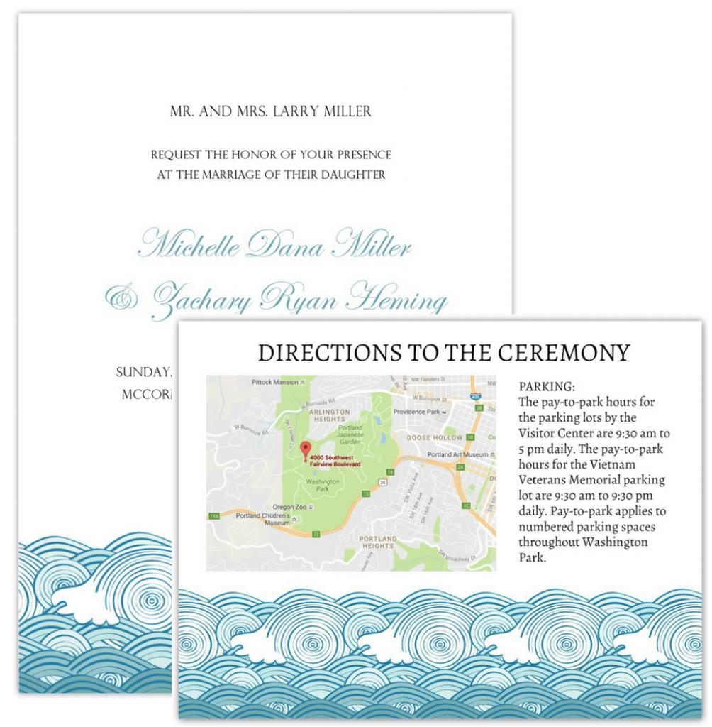 Wedding Invitation Maps - Maps For Wedding Invitations Free Printable