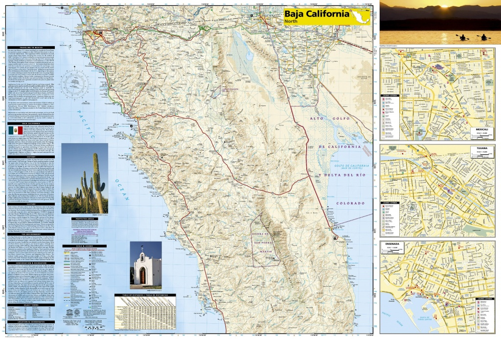 Wegenkaart - Landkaart 3103 Adventure Map Baja California North - National Geographic Maps California