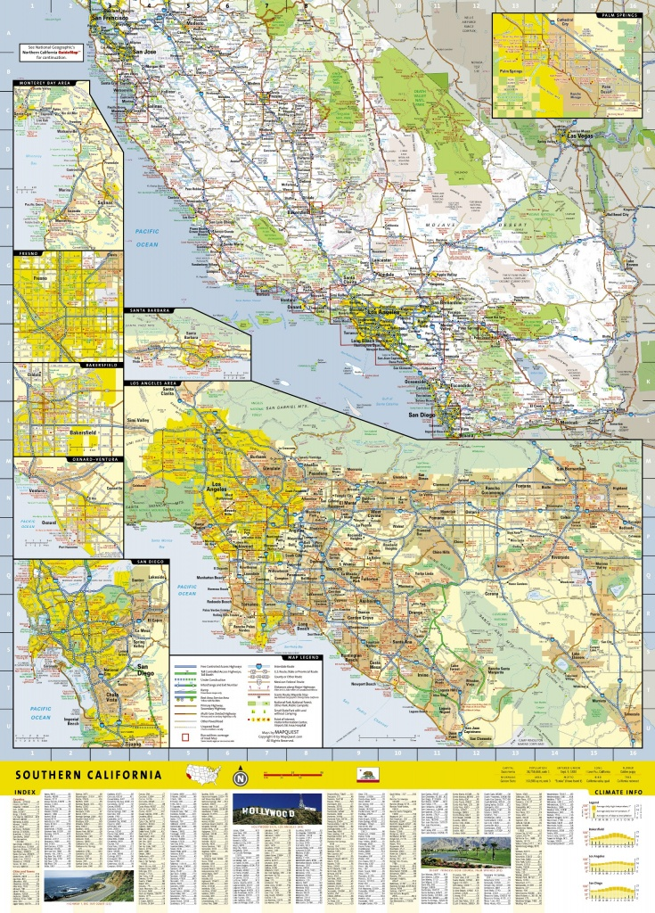 Wegenkaart - Landkaart Guide Map Southern California | National - National Geographic Maps California