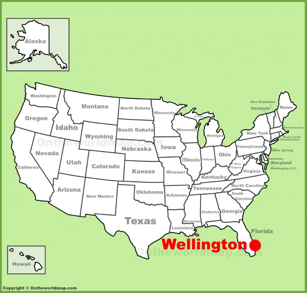 Wellington Location On The U.s. Map - Wellington Florida Map