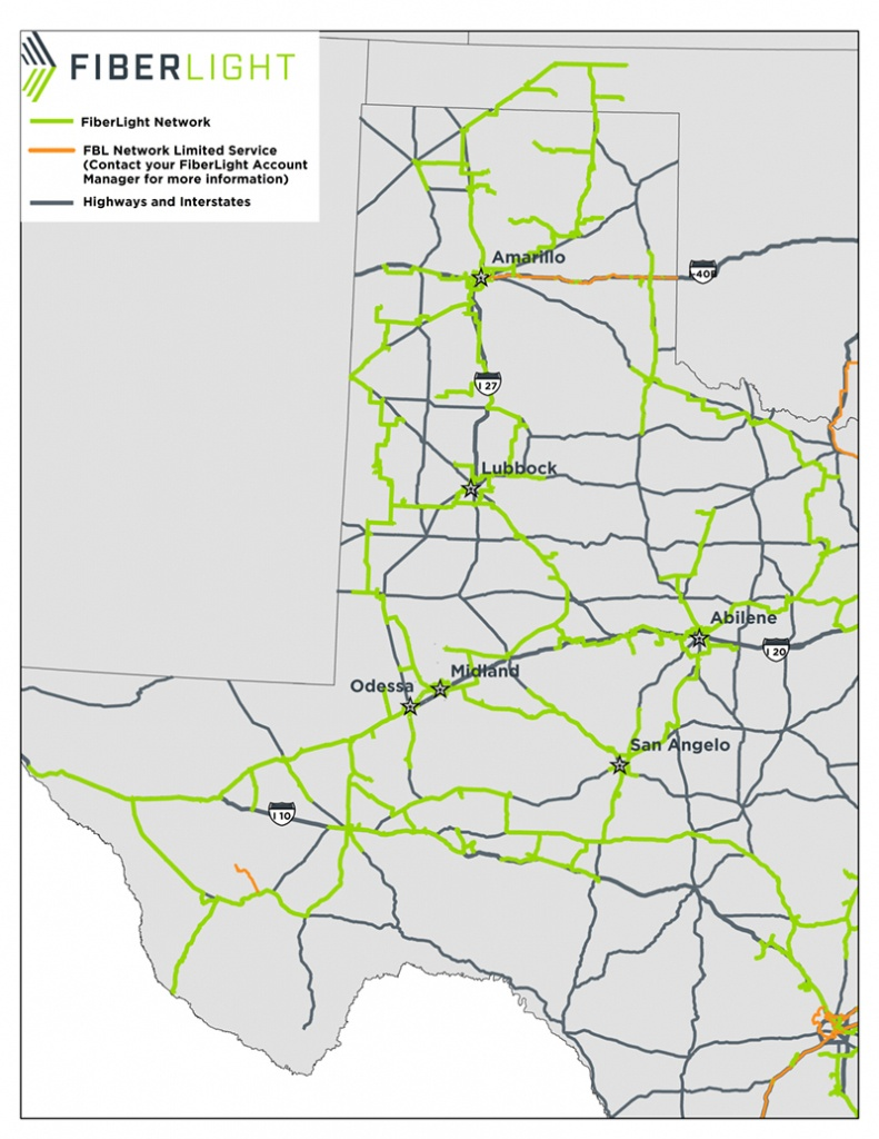 West Texas - Fiberlight - Texas Fiber Optic Map