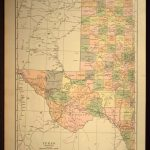 West Texas Map Of Texas Wall Art Decor Large Antique Western Wedding   Old Texas Map Wall Art